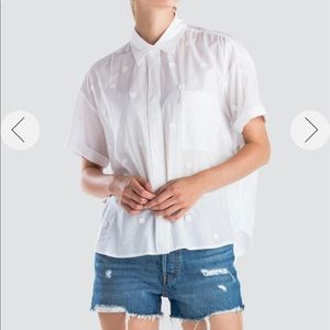 Levi's Maxine shirt Sz XS NWT color white